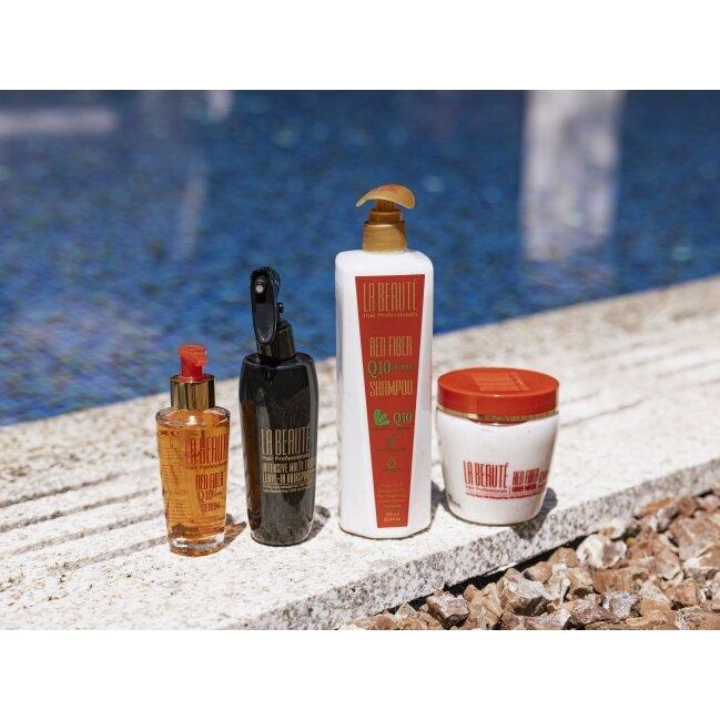 לה בוטה מארז q10 מועשר בויטמינים לשיער יבש ופגום בתיק חוף מהודר- מהדורה מוגבלת 2021 -