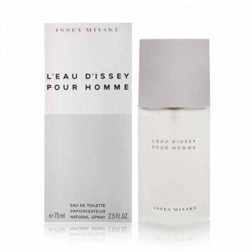 """בושם לגבר L'eau Pour Homme א.ד.ט 75 מ""""ל Issey Miyake"""