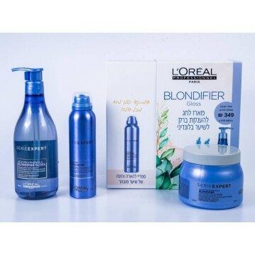 L'oréal בלונדיפייר קול מארז מוצרים לשיער בלונדיני