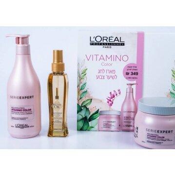 L'oréal ויטמינו קולור מארז מוצרים לשיער צבוע