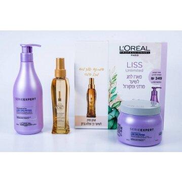 L'oréal ליס אנלימיטד מארז מוצרים לשיער מרדני ומקורזל-2